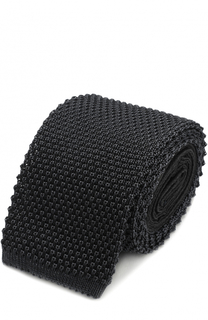 Шелковый вязаный галстук Ermenegildo Zegna