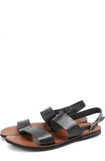 Кожаные сандалии с ремешком Uit