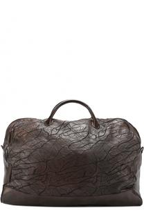 Кожаная дорожная сумка с декором Numero 10
