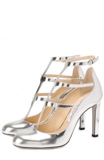 Туфли Doll 100 из металлизированной кожи на устойчивом каблуке Jimmy Choo