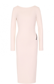 Платье-футляр с длинным рукавом и открытой спиной Tom Ford