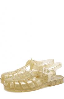 Резиновые сандалии с глиттером Marc Jacobs