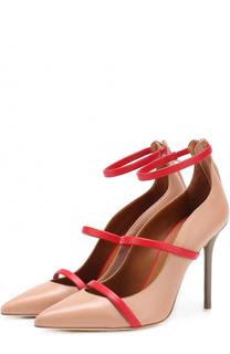 Кожаные туфли с ремешками на шпильке Malone Souliers