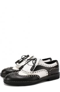 Кожаные туфли Milano с бахромой и заклепками Dolce & Gabbana
