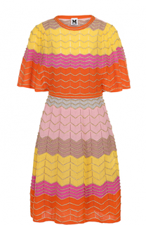 Приталенное платье-миди с удлиненным рукавом M Missoni