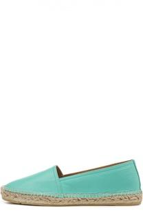 Кожаные эспадрильи Jo с тиснением Polo Ralph Lauren