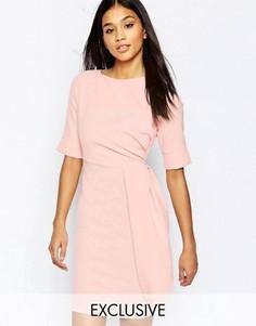 Платье-футляр миди со складками у талии Vesper - Розовый