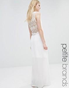 Платье макси с отделкой кроше Vero Moda Petite - Белый