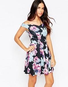 Приталенное платье в складку Jessica Wright Amelie - Мульти