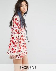 Свободное платье с цветочным принтом Milk It Vintage - Рыжий