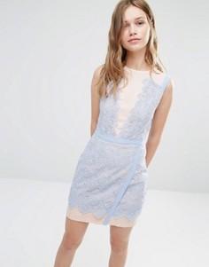 Двухцветное кружевное платье Greylin Lana - Синий