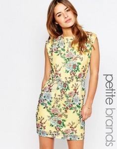 Приталенное платье с цветочным принтом Vero Moda Petite - Мульти