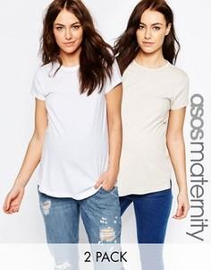 2 oversize-футболки для беременных ASOS Maternity - СКИДКА 15 - Мульти