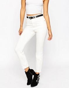 Белые джинсы слим в винтажном стиле ASOS Farleigh - Белый