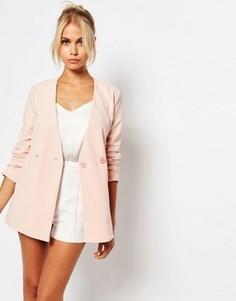 Асимметричный блейзер Fashion Union - Розовый