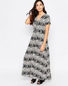 Платье макси с цветочным принтом Poppy Lux Vanessa - Черный