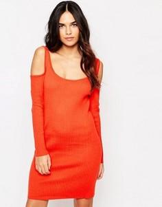 Облегающее платье‑джемпер в рубчик Girls On Film - Красный