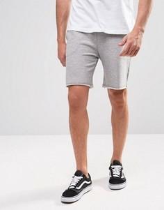 Трикотажные шорты с поясом на шнурке ADPT - Серый