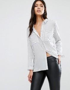 Рубашка в полоску Y.A.S Fast - Белый