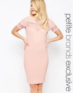 Платье-футляр с кружевной вставкой Paper Dolls Petite - Розовый