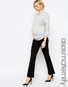 Расклешенные офисные брюки для беременных ASOS Maternity - Черный