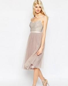 Тюлевое платье с отделкой Needle & Thread Coppelia - Фиолетовый
