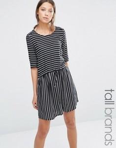Платье в полоску Y.A.S Tall Elisa - Черный