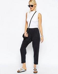 Зауженные брюки-галифе в стиле casual от ASOS - Серый