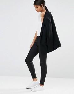 Черные зауженные брюки Selected Muse - Черный