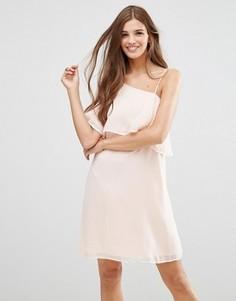 Светло-розовое платье с рукавом‑бабочка Lavand - Розовый