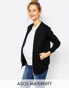 Бомбер для беременных ASOS Maternity - Черный