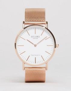 Классические часы с сетчатым браслетом цвета розового золота Reclaimed Vintage - Серебряный