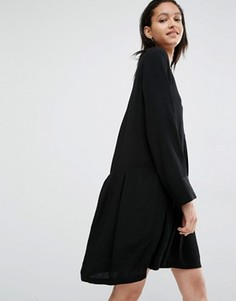 Свободное платье Just Female Laura - Черный