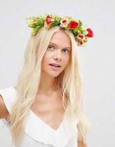Венок на голову с цветами Johnny Loves Rosie Phoebe - Кремовый