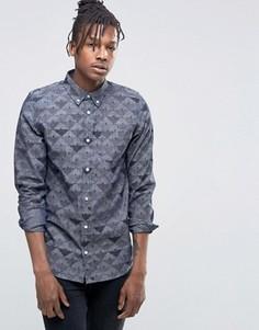 Джинсовая рубашка с принтом Carhartt WIP - Синий