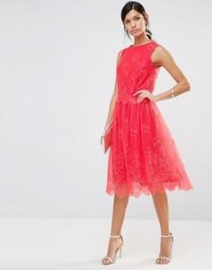 Кружевная юбка с фигурной отделкой по краю Little Mistress - Красный