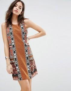 Цельнокройное платье с ацтекским принтом Only - Мульти