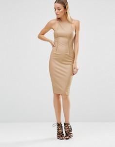 Платье миди AX Paris - Коричневый