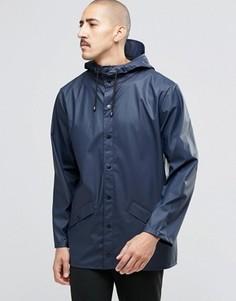 Короткая водонепроницаемая куртка Rains - Синий