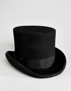 Черная шляпа-цилиндр ASOS - Черный