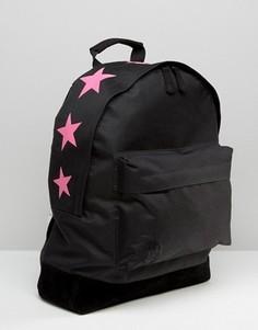 Рюкзак с розовыми звездами сверху Mi-Pac - Черный