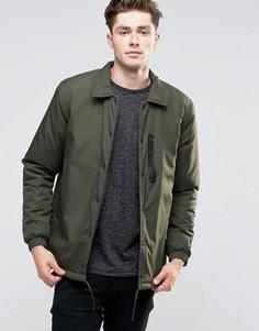 Нейлоновая куртка на пуговицах Brave Soul - Зеленый