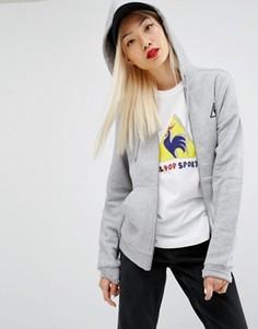 Худи на молнии с логотипом Le Coq Sportif - Серый