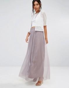 Юбка макси из тюля Boohoo Boutique - Фиолетовый