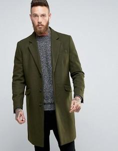 Пальто цвета хаки из шерстяной смеси ASOS - Зеленый