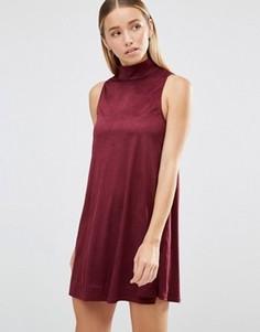 Свободное платье из искусственной замши AX Paris - Фиолетовый