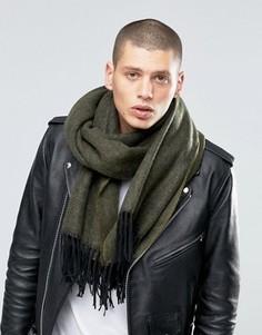 Фактурный шарф-накидка цвета хаки ASOS - Зеленый