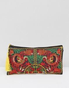 Клатч с вышивкой и кисточкой Reclaimed Vintage - Мульти