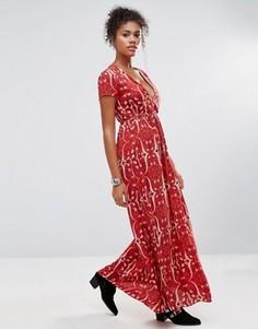 Платье макси с цветочным принтом Glamorous - Оранжевый