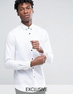 Рубашка слим с воротником на пуговицах Heart & Dagger - Белый